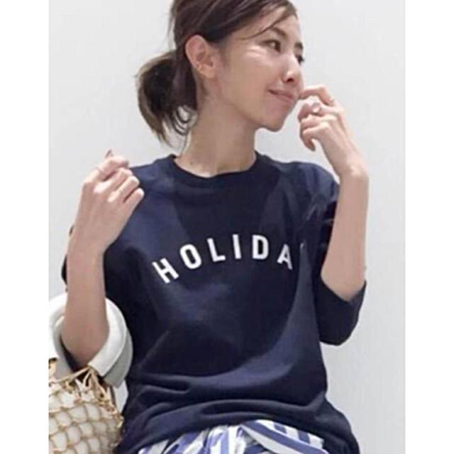 L'Appartement DEUXIEME CLASSE(アパルトモンドゥーズィエムクラス)のL'Appartement 【HOLIDAY】HOLIDAY Tee◆新品 レディースのトップス(Tシャツ(半袖/袖なし))の商品写真