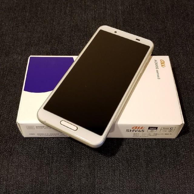 SHARP(シャープ)の訳あり【SIMフリー/新品未使用】au AQUOS sense3 SHV45 スマホ/家電/カメラのスマートフォン/携帯電話(スマートフォン本体)の商品写真