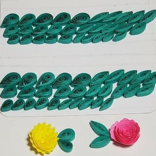 OPEN ★レメリア shop★花デコパーツ 葉っぱ60個 緑色 360円~(カード/レター/ラッピング)