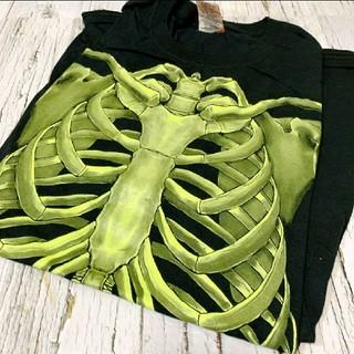 Tシャツ メンズ 古傷 USA アメリカ 骨 ボーン スケルトン ガイコツ(Tシャツ/カットソー(半袖/袖なし))
