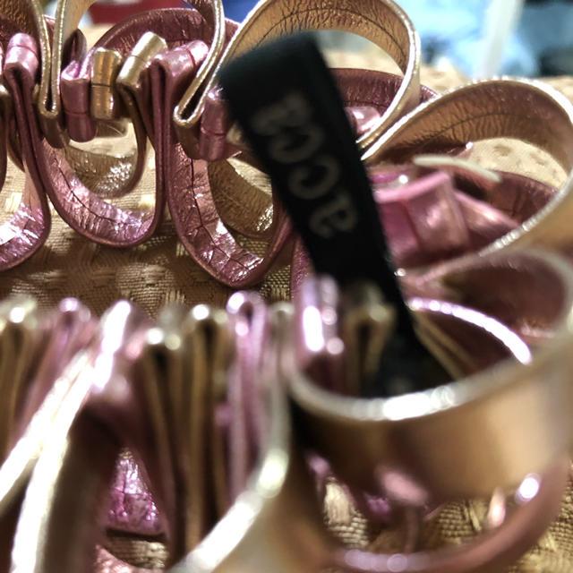 acca(アッカ)のアッカ  メタルピンク シュシュ レディースのヘアアクセサリー(ヘアゴム/シュシュ)の商品写真