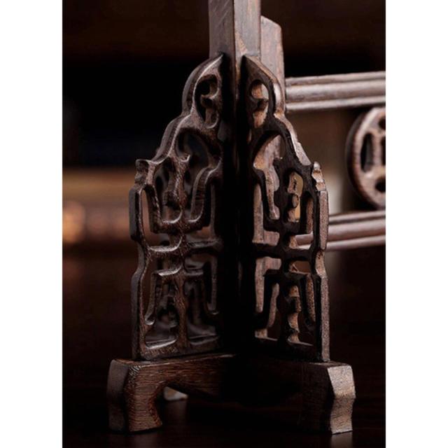 毛筆掛け 唐木 紅木 14針筆架 エンタメ/ホビーのアート用品(書道用品)の商品写真
