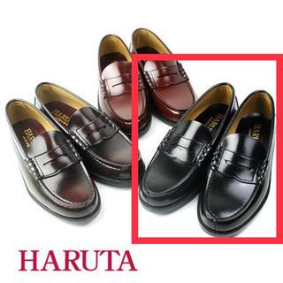 ハルタ(HARUTA)のハルタ ローファーHARUTA6550 通学 黒3E幅広 合成皮革 27.0cm(その他)
