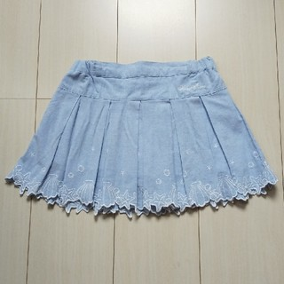 mezzo piano - メゾピアノ  シェル 刺繍 スカート 120cm