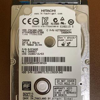 日立 - 2.5 HDD SATA 500GB 日立 HITACHI