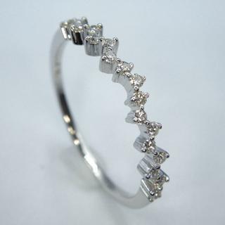 本物K18WG0.13ctダイヤモンド リング 送料無料(リング(指輪))