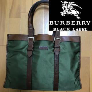 BURBERRY BLACK LABEL - 希少!バーバリーブラックレーベル レザー×ナイロン ノバチェック ブリーフケース