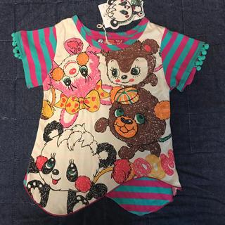 グラグラ(GrandGround)の新品 グラグラ Tシャツ  90 95 チュニック(Tシャツ/カットソー)