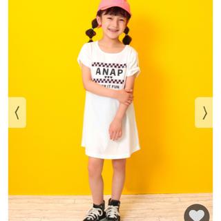 アナップキッズ(ANAP Kids)の(新品)アナップキッズ 肩リボンワンピース(ワンピース)