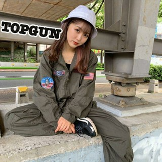 TOPGUN 古着 ミリタリー オールインワン ジャンプスーツ トムクルーズ(サロペット/オーバーオール)