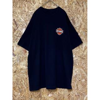 ハーレーダビッドソン(Harley Davidson)のHARLEYDAVIDSON Tシャツ 胸ロゴオレンジ バックビックロゴ (Tシャツ/カットソー(半袖/袖なし))