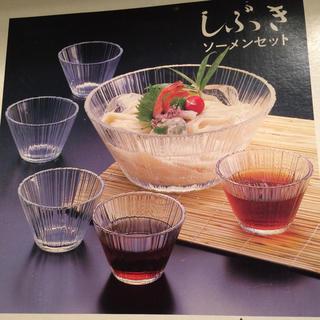 トウヨウササキガラス(東洋佐々木ガラス)のしぶきソーメンセット 佐々木硝子(食器)