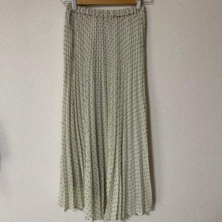 PLST - PLST ドットプリーツスカート