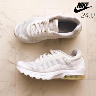 NIKE - 【訳あり】24.0 NIKE AIR ナイキ エア スニーカー 白 ホワイト 靴