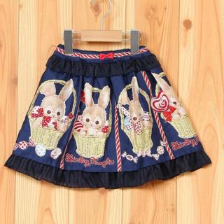 シャーリーテンプル(Shirley Temple)のバスケットバニー スカート ネイビー 110(スカート)