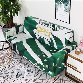 新品伸縮素材のびのびでフィット3人掛けソファーカバー真夏おしゃれインテリア(ソファカバー)