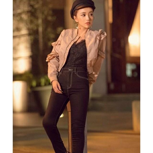 eimy istoire(エイミーイストワール)のeimy istoire アシンメトリーフリルブルゾン レディースのジャケット/アウター(ブルゾン)の商品写真