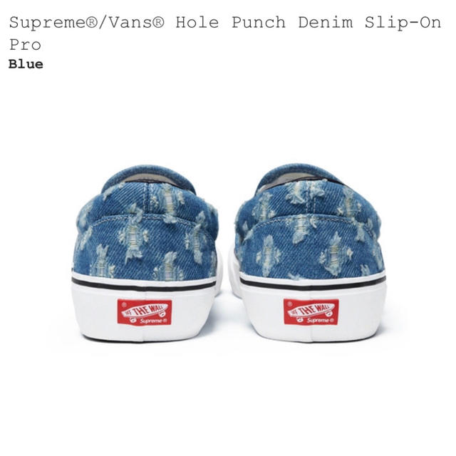 Supreme(シュプリーム)のSupreme®/Vans® Hole Punch Denim Slip-On メンズの靴/シューズ(スニーカー)の商品写真