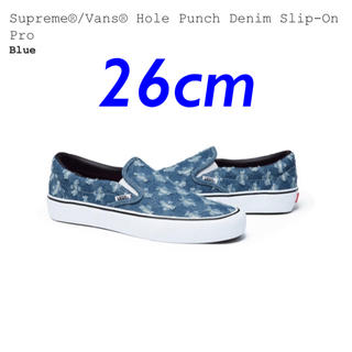 Supreme - Supreme®/Vans® Hole Punch Denim Slip-On