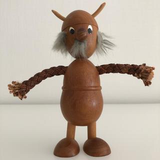 カイボイスン(Kay Bojesen)のデンマーク 北欧 ミッドセンチュリー ノギンス バイキング 人形 木製(置物)