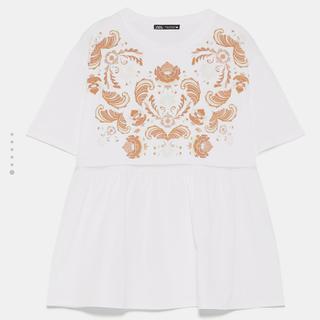 ZARA プリントTシャツ s