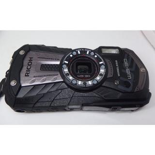 リコー(RICOH)のRICOH 防水デジタルカメラ RICOH WG-30W カーボングレー(コンパクトデジタルカメラ)