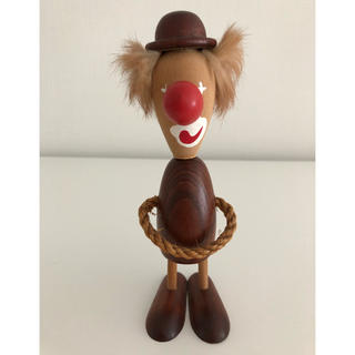 カイボイスン(Kay Bojesen)のデンマーク 北欧 ミッドセンチュリー ピエロ 人形 木製(置物)