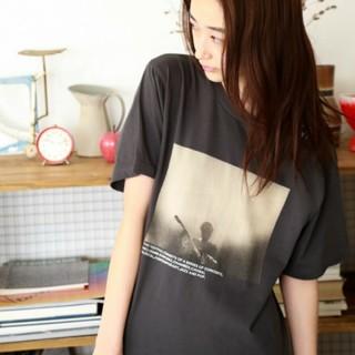 ニコアンド(niko and...)のniko and ... オーディエンスフォトTシャツ(Tシャツ(半袖/袖なし))