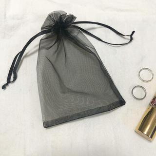 dholic - 5枚セットシアー巾着 ブラック ラッピング素材