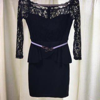 デイジーストア(dazzy store)のミニドレス 黒(ミニドレス)
