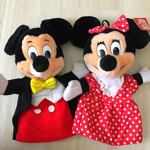 Disney(ディズニー)のミッキー  ミニー パペット レトロ ディズニーランド エンタメ/ホビーのおもちゃ/ぬいぐるみ(ぬいぐるみ)の商品写真
