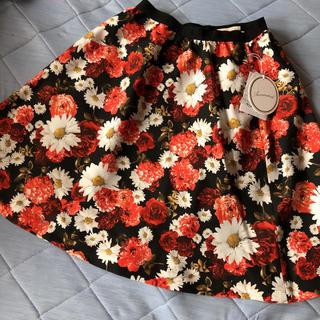 アベニールエトワール(Aveniretoile)のアベニールエトワール    花柄スカート  38サイズ(ひざ丈スカート)
