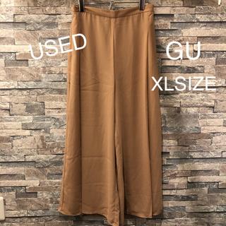 ジーユー(GU)のUSED GU ワイド ガウチョ パンツ XL SIZE(その他)