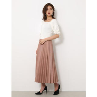 rienda - rienda レザープリーツスカート