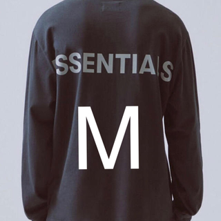 フィアオブゴッド(FEAR OF GOD)のEssentials fog リフレクティブロゴロングスリーブtシャツ(Tシャツ/カットソー(七分/長袖))
