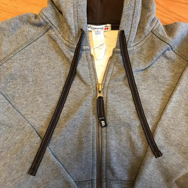 Bonpoint(ボンポワン)のボンポワン グレーパーカー 6  キッズ/ベビー/マタニティのキッズ服男の子用(90cm~)(ジャケット/上着)の商品写真