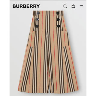 BURBERRY - 大人も OK‼︎Burberry☆アイコンストライプ ☆ワイドパンツ