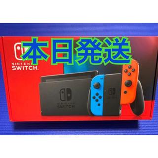 ニンテンドースイッチ(Nintendo Switch)のNINTENDO Switch ネオン 保証書あり(家庭用ゲーム機本体)