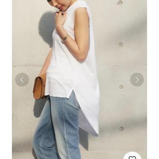 ドゥーズィエムクラス(DEUXIEME CLASSE)の【未使用タグ付】ドゥーズィエムクラス Back Long Tシャツ(Tシャツ(半袖/袖なし))