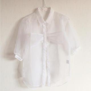 ハニーミーハニー(Honey mi Honey)のオーガンジーシャツ(シャツ/ブラウス(半袖/袖なし))