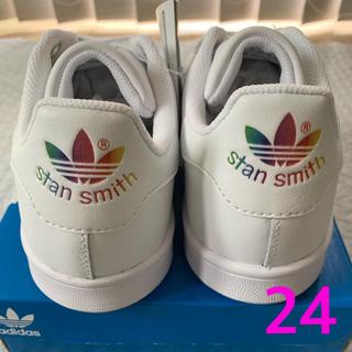 アディダス(adidas)のノースフェイス スタンスミス レインボー 24(スニーカー)