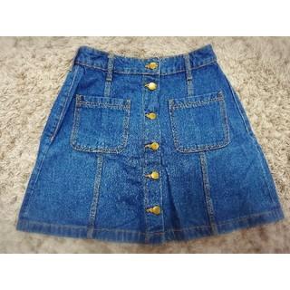 エイチアンドエム(H&M)のh&m*フロントボタンデニムスカート(ひざ丈スカート)