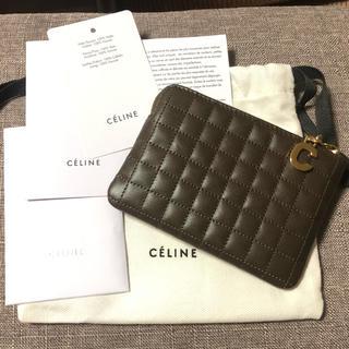 celine - 【新品未使用】Cチャーム セリーヌ ミニ財布 コインケース カーキ