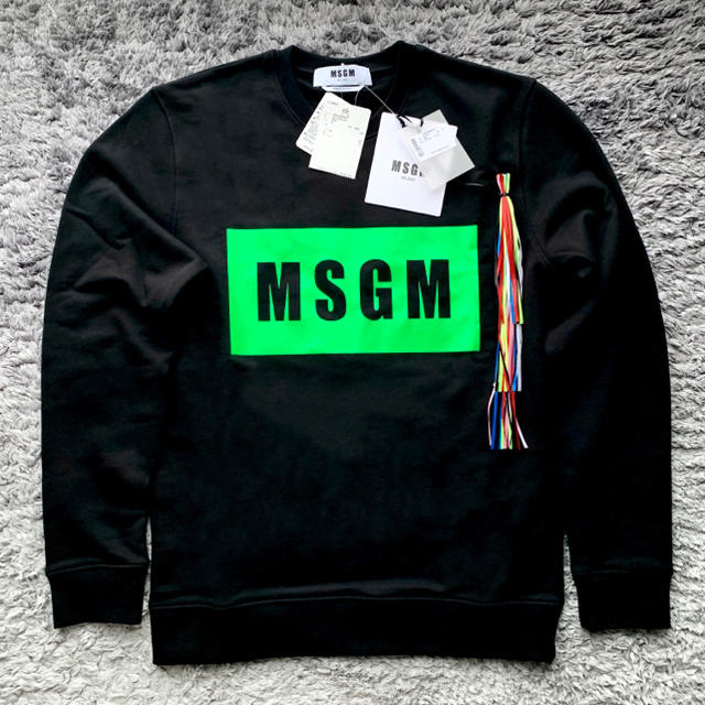 MSGM(エムエスジイエム)の限定カラー!新品未使用!正規店購入 MSGM スウェット サイズS 送料込! メンズのトップス(スウェット)の商品写真