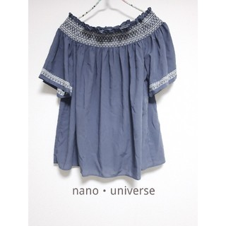 ナノユニバース(nano・universe)のnano・universe ブラウス オフショルダー トップス カットソー(シャツ/ブラウス(半袖/袖なし))