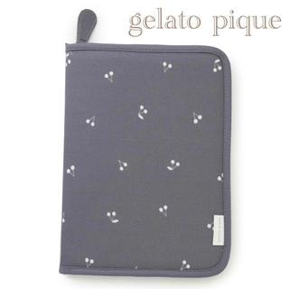 ジェラートピケ(gelato pique)のgelato pique ネイビー チェリー モチーフ 母子手帳 ケース 10(母子手帳ケース)