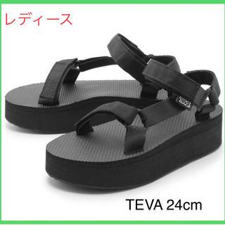 Teva - 【24.0cm】新品Teva flatform サンダル レディース ブラック