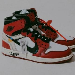 ナイキ(NIKE)の27.5 新品未使用 Nike Air jordan1 オフホワイト スニーカー(スニーカー)