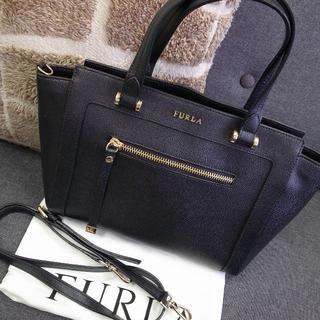 Furla - 正規品☆フルラ 2wayバッグ 黒 レザー バッグ 財布 小物