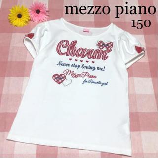 mezzo piano - メゾピアノ  半袖 Tシャツ 春 夏 リボン ポンポネット シャーリーテンプル